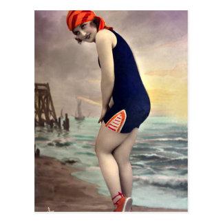 Patriotic Beachwear Postcard