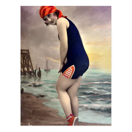 Patriotic Beachwear Postcard