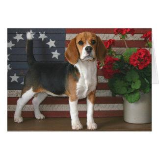 Patriotic Beagle Greeting Cards