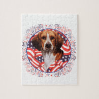 Patriotic Beagle Puzzle