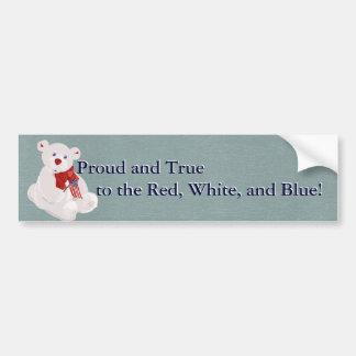 Patriotic Bear Bumper Sticker