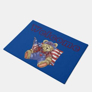 Patriotic Bear Doormat