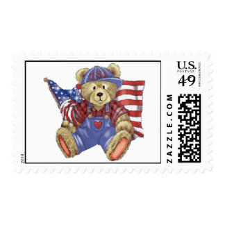 Patriotic Bear Postage