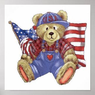 Patriotic Bear Print
