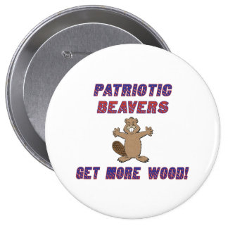 Patriotic Beavers Get More Wood Pins