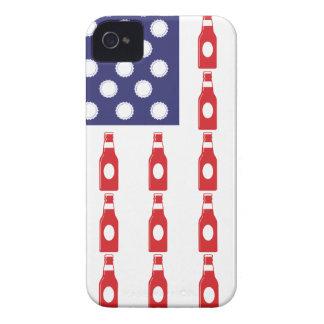 Patriotic Beer Bottles Case-Mate iPhone 4 Case