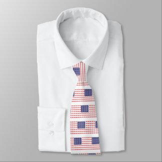 Patriotic Beer Bottles Neck Tie