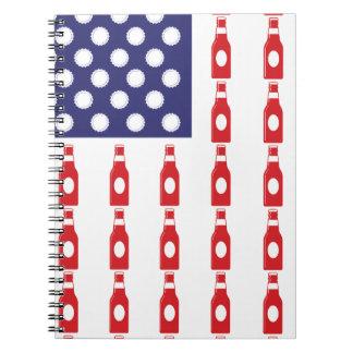 Patriotic Beer Bottles Notebook