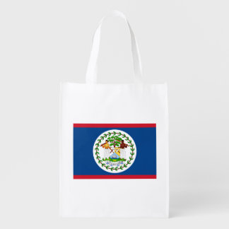 Patriotic Belizean Flag Reusable Grocery Bag