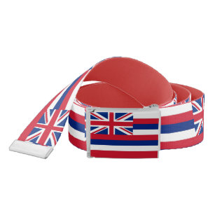 Patriotic Belt with flag of Hawaii, U.S.A.
