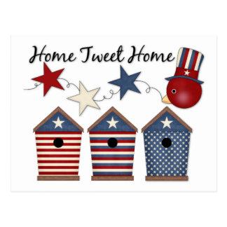 Patriotic Birdhouses (12) Post Cards