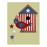 Patriotic Birdhouses (7) Postcard