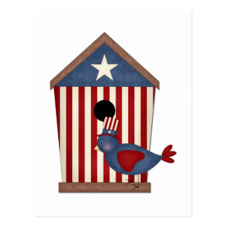Patriotic Birdhouses (8) Post Cards