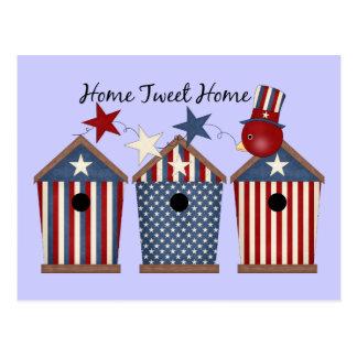 Patriotic Birdhouses Postcard
