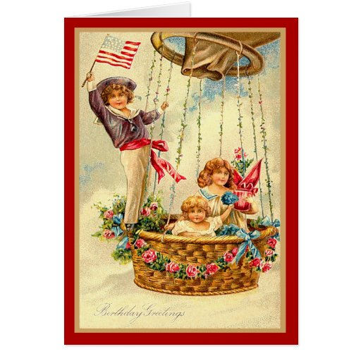 Patriotic Birthday Greetings Card