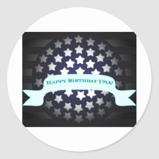 Patriotic Birthday Salute Stickers