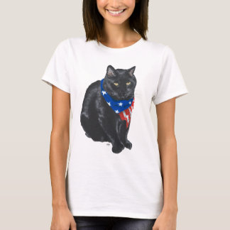 Patriotic Black Cat T-Shirt