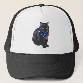 Patriotic Black Cat Trucker Hat