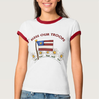 Patriotic Bless Our Troops T Shirt