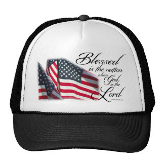 Patriotic Blessed is the Nation Trucker Hat