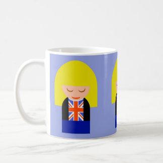 Patriotic Blonde Girl In A Union Jack Flag Tee Coffee Mug