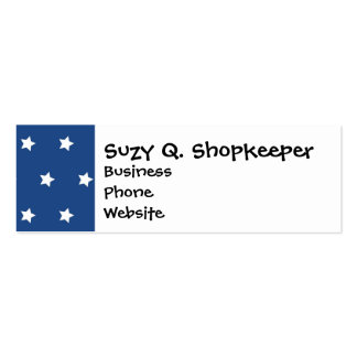 Patriotic Blue and White Stars Freedom Business Card Templates
