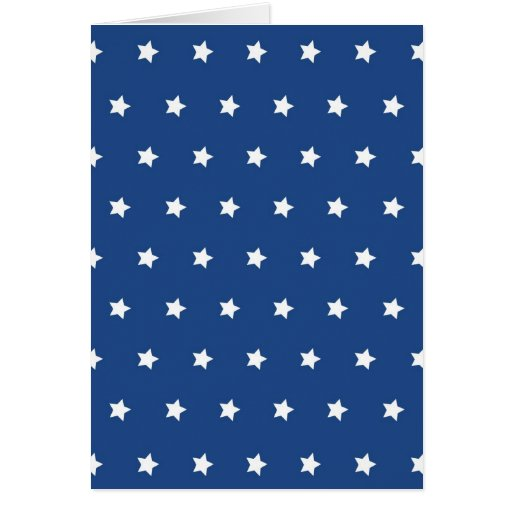 Patriotic Blue and White Stars Freedom Greeting Card
