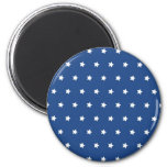 Patriotic Blue and White Stars Freedom Refrigerator Magnets