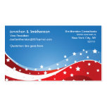 Patriotic Blue Double-Sided Standard Business Cards (Pack Of 100)