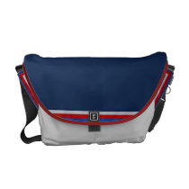 Patriotic Blue Messenger Bag