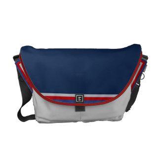 Patriotic Blue Messenger Bag