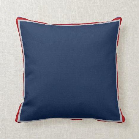 Patriotic Blue Throw Pillow