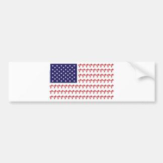 Patriotic BMX Biker American Flag Car Bumper Sticker
