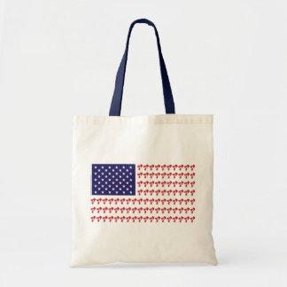 Patriotic BMX Biker American Flag Tote Bag