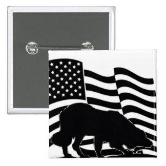 Patriotic Border Collie Pin