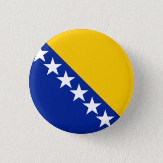 Patriotic Bosnia Herzegovina Flag Pinback Button