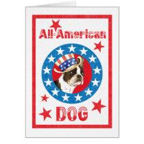 Patriotic Boston Terrier Card