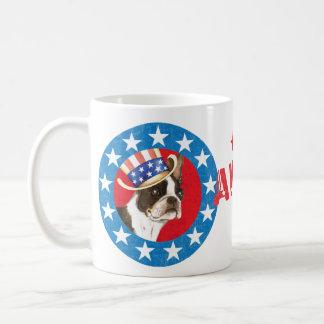 Patriotic Boston Terrier Coffee Mug
