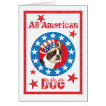 Patriotic Boston Terrier Greeting Card