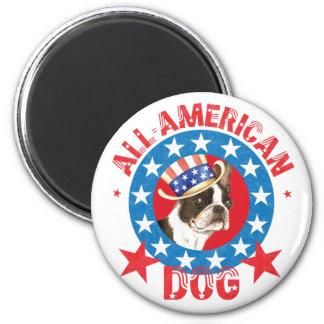 Patriotic Boston Terrier Magnet