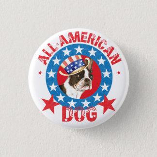 Patriotic Boston Terrier Pinback Button