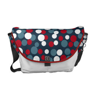 Patriotic Bouncing Dots Messenger Bag