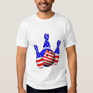 Patriotic Bowling Ball T-shirt