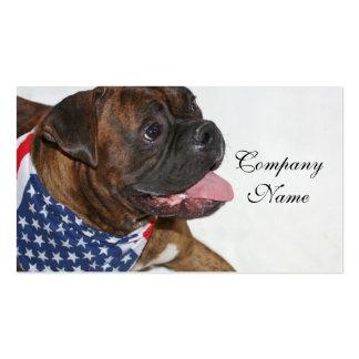 Patriotic Boxer Dog Business Card