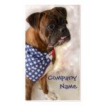 Patriotic Boxer Dog Business Cards