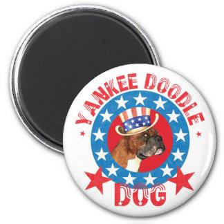 Patriotic Boxer Magnet