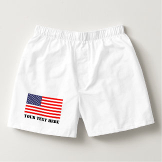 Patriotic boxer short or briefs with American flag