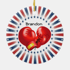 Patriotic Boxing Design Ornament at Zazzle