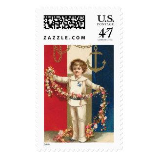Patriotic Boy Postage