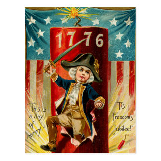 Patriotic Boy Postcard